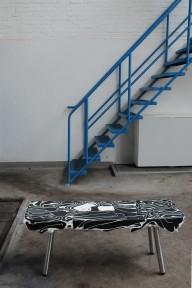 Organic-Factory_overproduction_plastic-waste_blackandwhite-plasticbench_Ruben-Thier