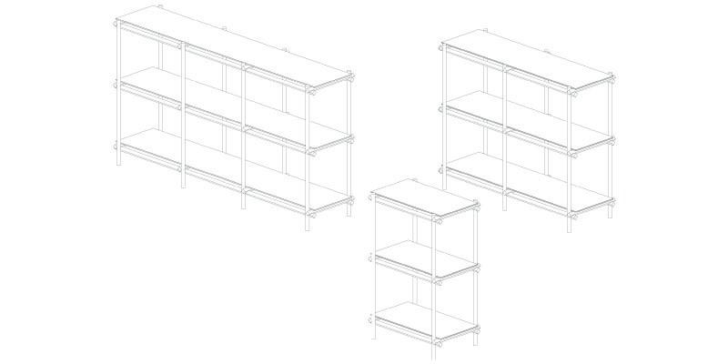 Angled Cabinet - lijntekening serie - Studio Thier&vanDaalen-01